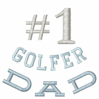 Camisa bordada papá del golf polo bordado