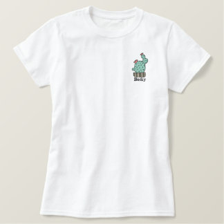 camisa bordada personalizada cactus potted polo