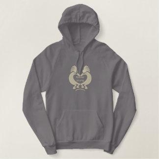 Camisa bordada personalizado del corazón de chaqueta de deporte bordada con capucha