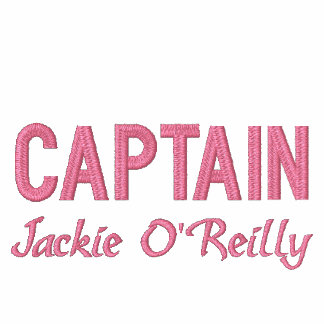 Camisa bordada pesca rosada personalizada