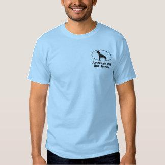 Camisa bordada pitbull oval (camiseta)