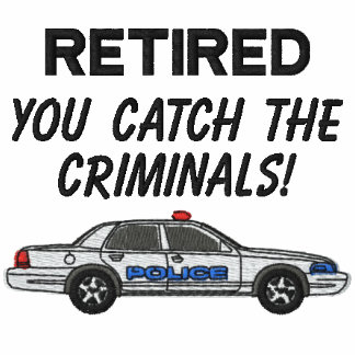 Camisa bordada policía jubilada