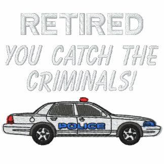 Camisa bordada policía jubilada sudadera bordada