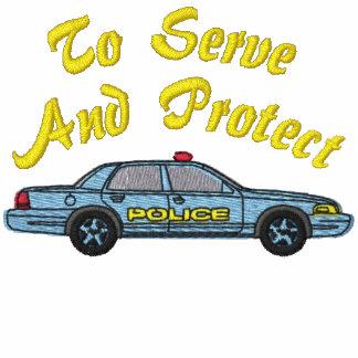 Camisa bordada policía sudadera bordada