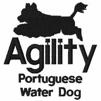 Camisa bordada portuguesa del perro de agua de la polos
