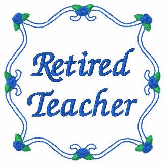 Camisa bordada profesor jubilada