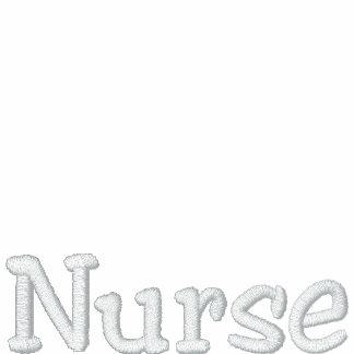 Camisa bordada rojo de la enfermera