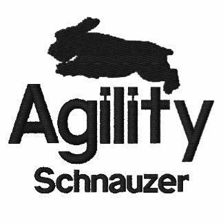 Camisa bordada Schnauzer de la agilidad