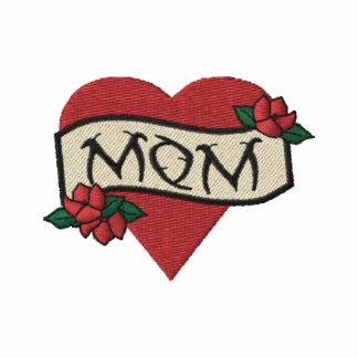 Camisa bordada tatuaje del corazón de la mamá polo