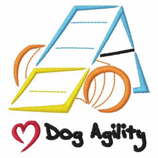 Camisa bordada Uno-Marco de la agilidad del perro