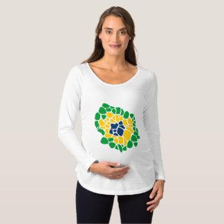 Camisa brasileña de la maternidad del flower power