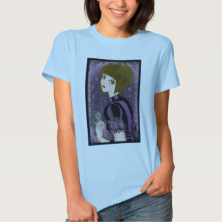 Camisa cabida lila gótica de la muñeca de Lolita