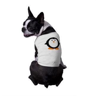Camisa caprichosa linda del pingüino para los