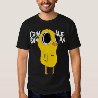 Camisa carmesí del pollo de Alexa - oscuridad -
