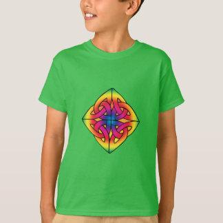 Camisa céltica del nudo del diamante del niño