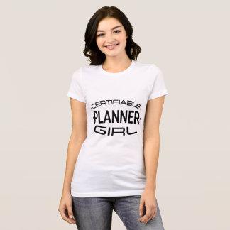 Camisa certificable del chica del planificador