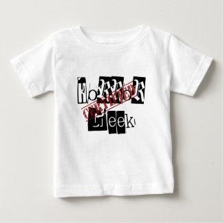 Camisa certificada del bebé del friki del horror
