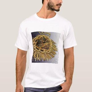 Camisa chispeante del león del diamante artificial