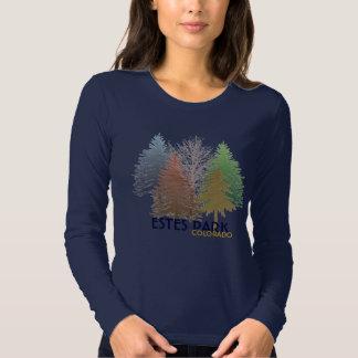 Camisa colorida de los árboles de Colorado del