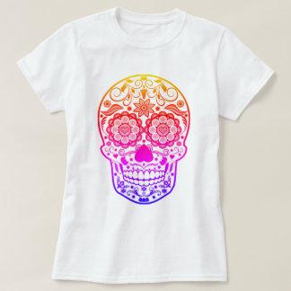 Camisa colorida del cráneo del azúcar del caramelo