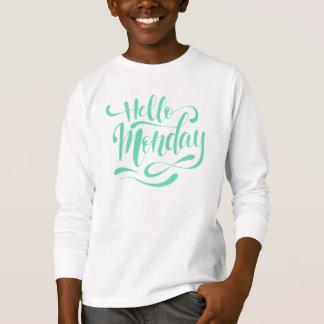 Camisa con mangas caprichosa linda de lunes el |