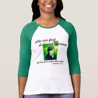 Camisa con mangas de la mujer 3/4 de los proverbio