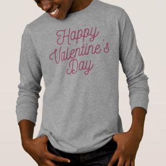 Camisa con mangas feliz rosada del el día de San