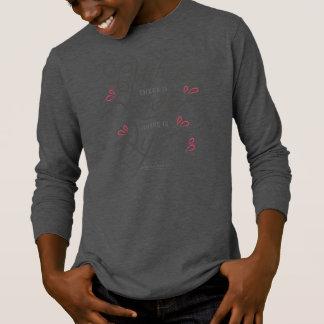 Camisa con mangas inspiradora de la cita el | del