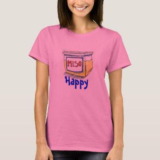 Camisa con mangas larga feliz del Miso