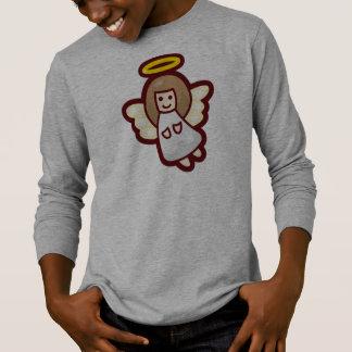 Camisa con mangas linda y simple del ángel el |