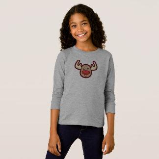 Camisa con mangas linda y simple del reno el | de