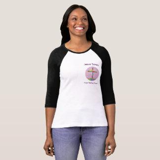 Camisa cristiana del béisbol de las mujeres de la