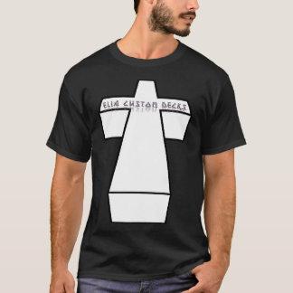 camisa cruzada del logotipo 3D