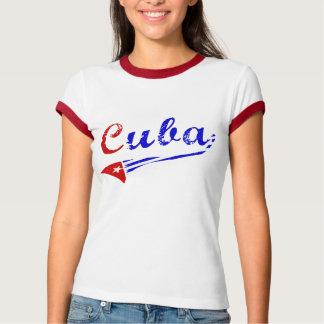 Camisa cubana con la bandera cubana