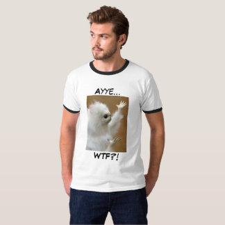 Camisa de Ayye WTF del meme del gato persa