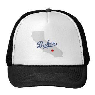 Camisa de California CA del panadero Gorras