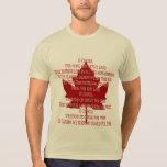 Camisa de Canadá del recuerdo de la camiseta del v
