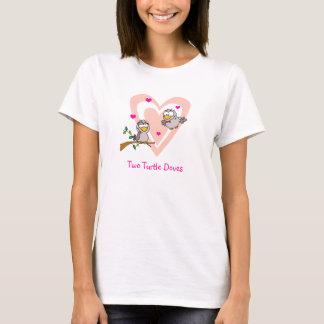 Camisa de dos palomas de la tortuga