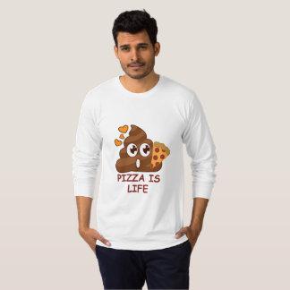 Camisa de Emoji del impulso de la vida de la pizza