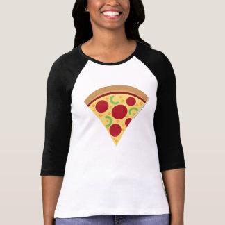 Camisa de Emoji Longsleeve de la pizza de las
