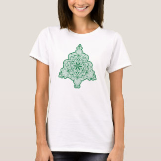 Camisa de encaje del árbol de navidad