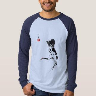 Camisa de encargo con la grúa