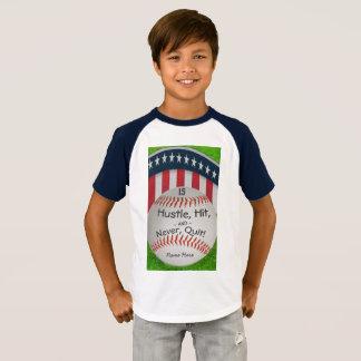 Camisa de encargo del béisbol con número