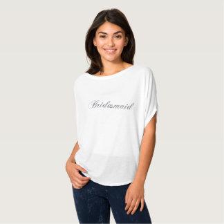 Camisa de Flowy del brillo de la plata de la dama