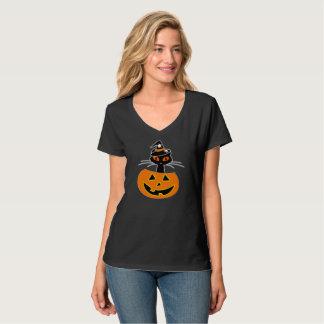 Camisa de Halloween de la bruja del gato