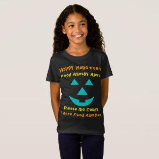 Camisa de Halloween de la cara de la calabaza del