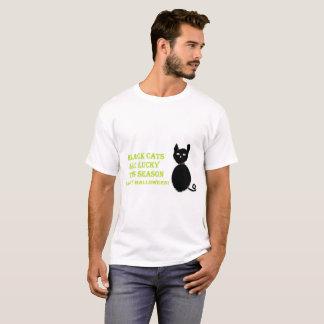 Camisa de Halloween del gato negro