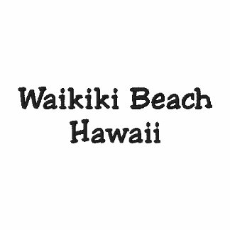 ¡Camisa de Hawaii de la playa de Waikiki - persona Camiseta Polo Bordada