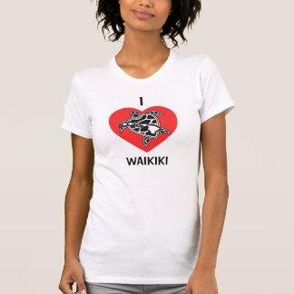 Camisa de Hawaii del amor - playa de Waikiki
