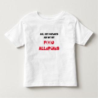 Camisa de la alergia alimentaria